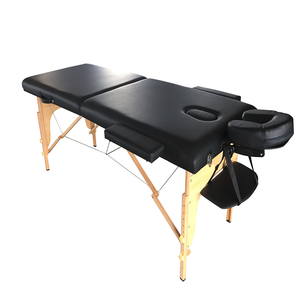 Best 2 Section Light Portable Durable Adjustable Chiropractic Massage Bed,Cheap Thai Wooden Facial Massage Table for Sale