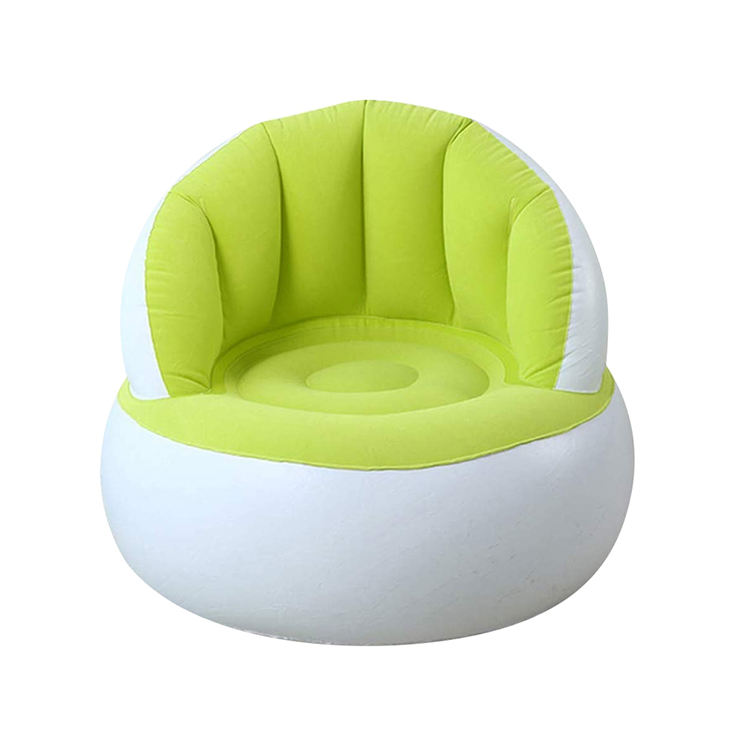 Inflatable Portable Pouf Chair with Backrest Kids Bean Bag Leisure Chair Sofa