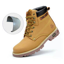 Custom Men Composite Steel Toe Cap Shoes Construction Safety Work Boots