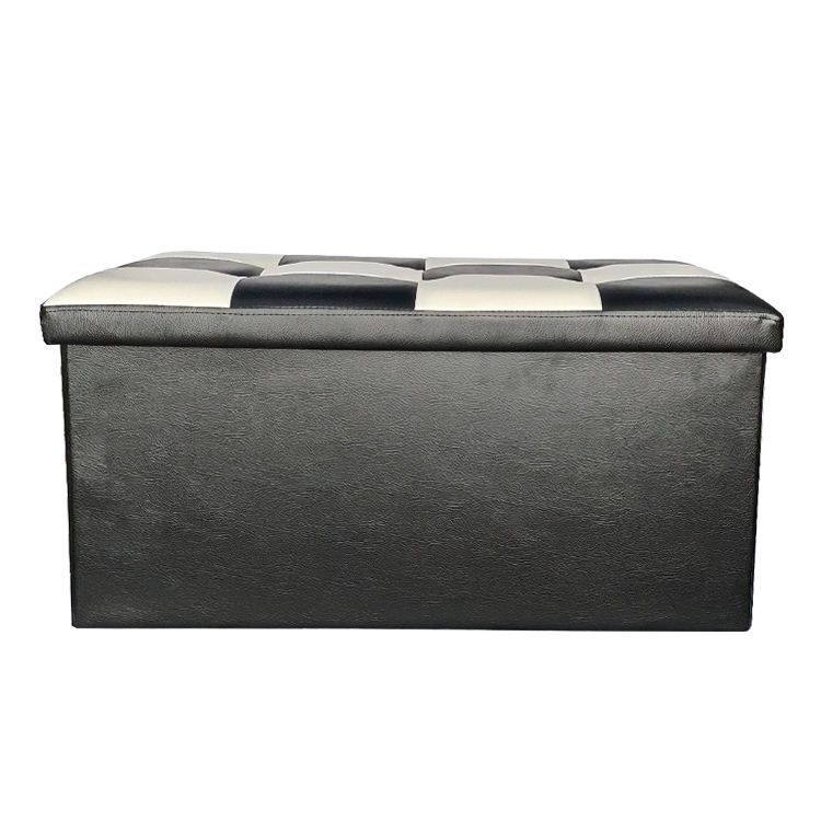 Factory directly Wholesale Large PU Leather foldable storage bench ottoman small sofa bench