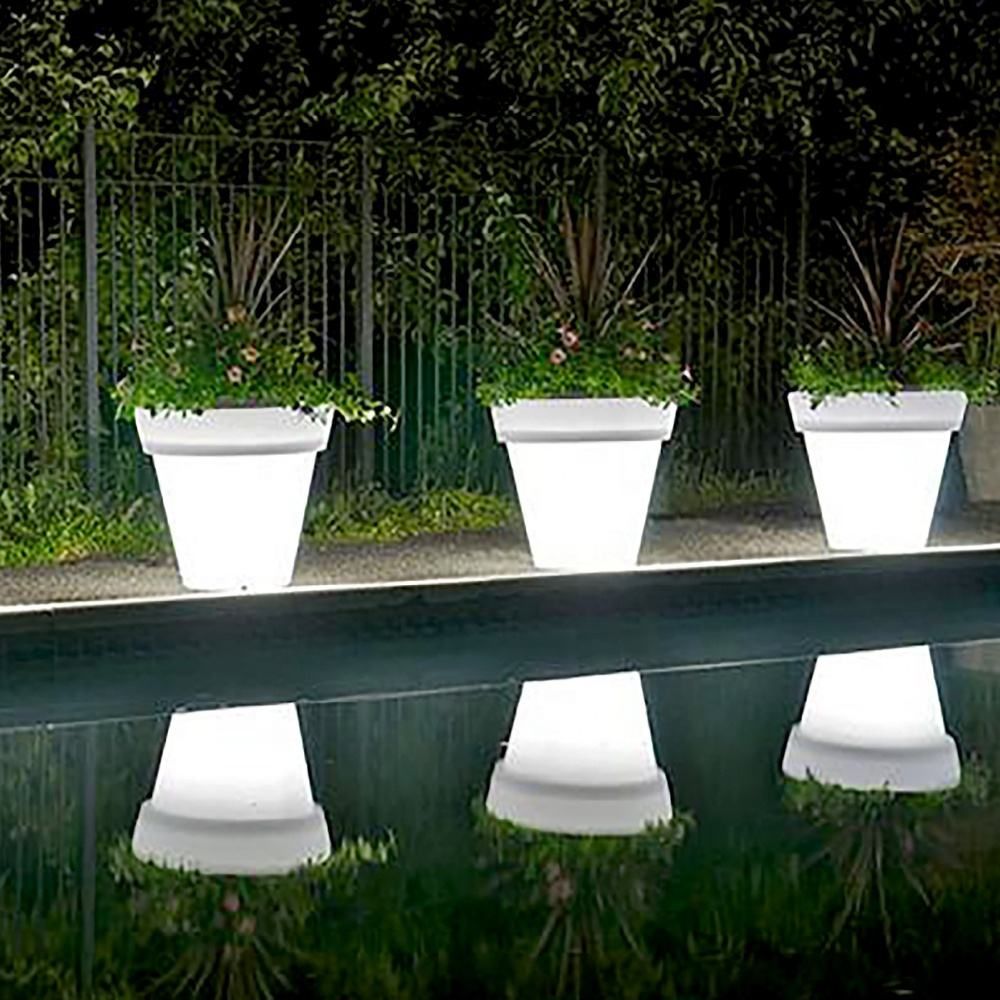 good price Indoor/Outdoor flower solar powered led light decorative flower pot