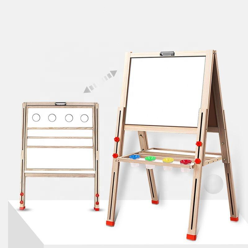 A-shaped wooden double-sided magnetic drawing board writing board