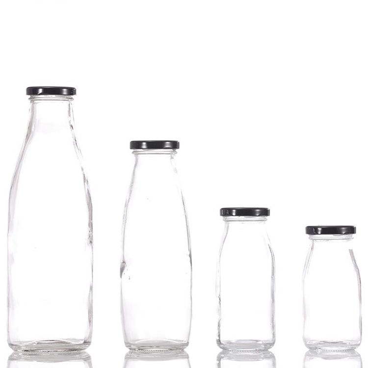 DAILY Glass Milk Bottle Juice Bottle Beverage Bottles 200/250/500/1000ML 16oz