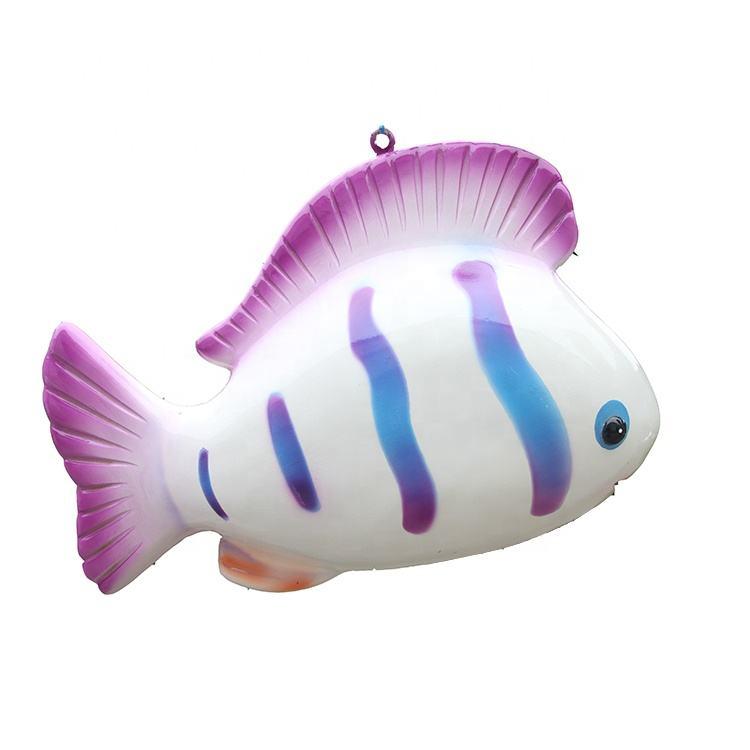 Adorno simulação de fibra de vidro parque de diversões das crianças desenhos animados dos peixes para aquário