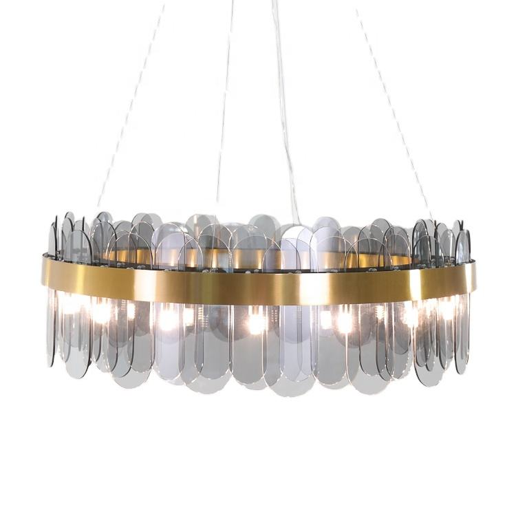 2020 modern art deco indoor contemporary luxury home round chandelier led pendant light