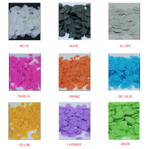 Throwing Colorful Tissue Paper Confetti Biodegradable Round Confetti Push Pop Konfetti For Wedding Event Decoration