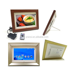 Digital Picture Frame 10 inch, 1280 x 800 HD Resolution 16:9 Wide Picture Screen with Music Video Playback/Remote Control