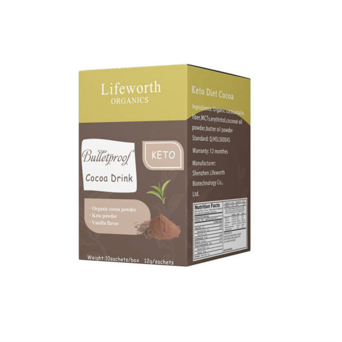 Lifeworth instant BHB coconut oil keto hot chocolate drink