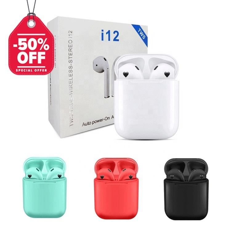 Original Sport Wireless Bluetooth Earphones Earbuds Headphone Auriculares Air Ear Pods Inpod I12 TWS