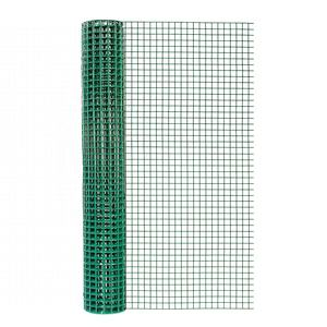 PVC Coated Welded Wire Mesh Fencing Green 1/2 x 1/2 Mesh Hole