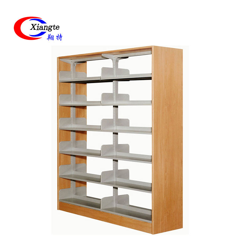 Wooden Library Filing Bookshelf Furniture Bookcase Metal Modern Office School Steel Book Shelf For Sale