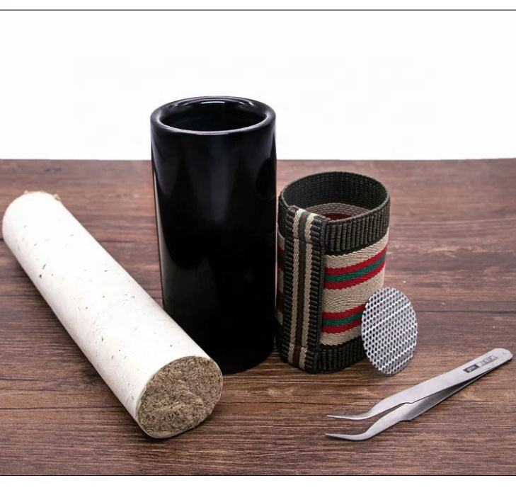 smoking control stone Needle moxibustion scraping cup moxa burner