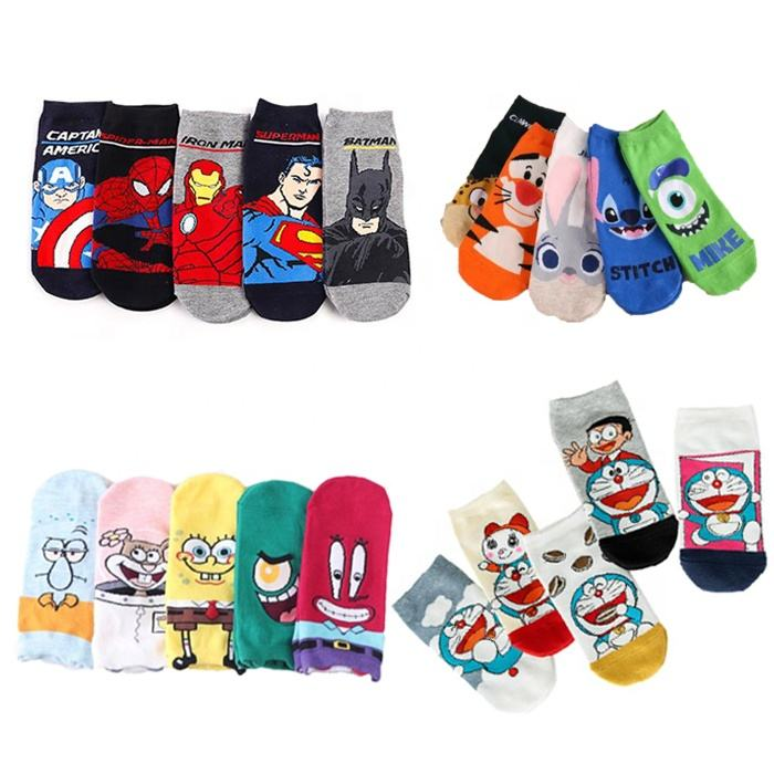Funny Harajuku Calcetines Meias Jacquard Cute Cartoon Low Cut Ankle Socks Women Anime Cotton Kawaii Cat Novelty Fashion Socks