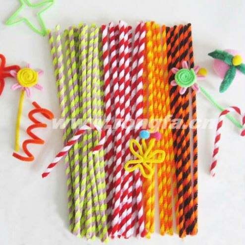 100 PIPA CHENILLE Tigre Colas Raya Craft limpiadores tallos 30cm