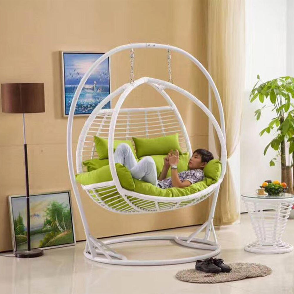 Iron frame indoor circle swing chair furniture