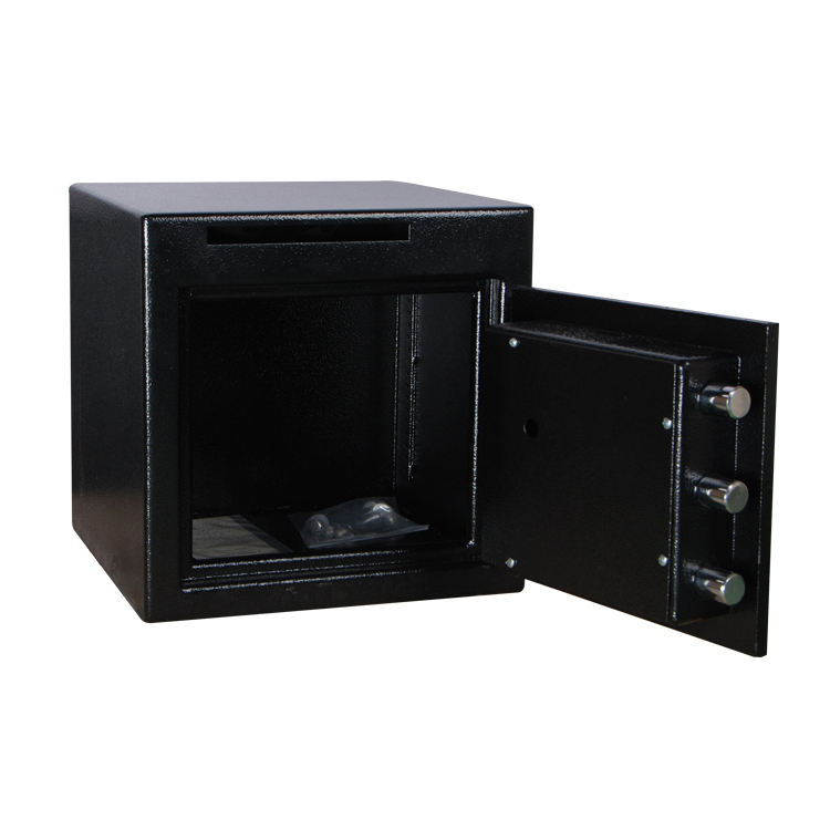Safe Box Commercial Safe Deposit Boxes Home Office Hotel Bank Metal Commercial Security Electronic Digital Cash Drop Depository Safety Deposit Box/