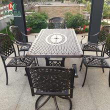 Outdoor Furniture Cast Aluminum Bistro Chair Set Outdoor Garden Dining Set Family Party Table Patio Leisure Furniture