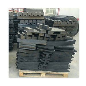 Ball mill end cover rubber liner plate for sale