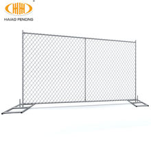 6'x12' hot dipped galvanized construction chain link temporary fence panel