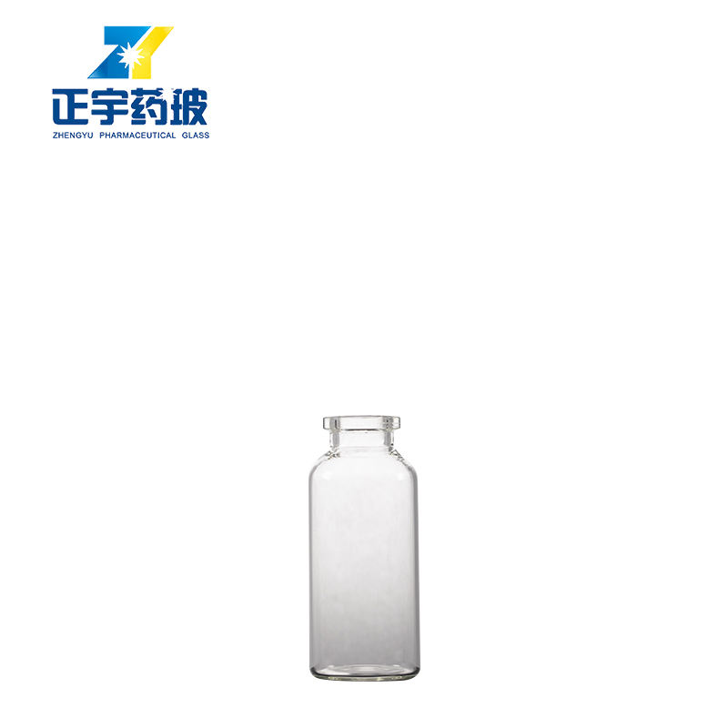 Hot sale transparent 25ml tubular glass vial for pharmaceutical and cosmetics