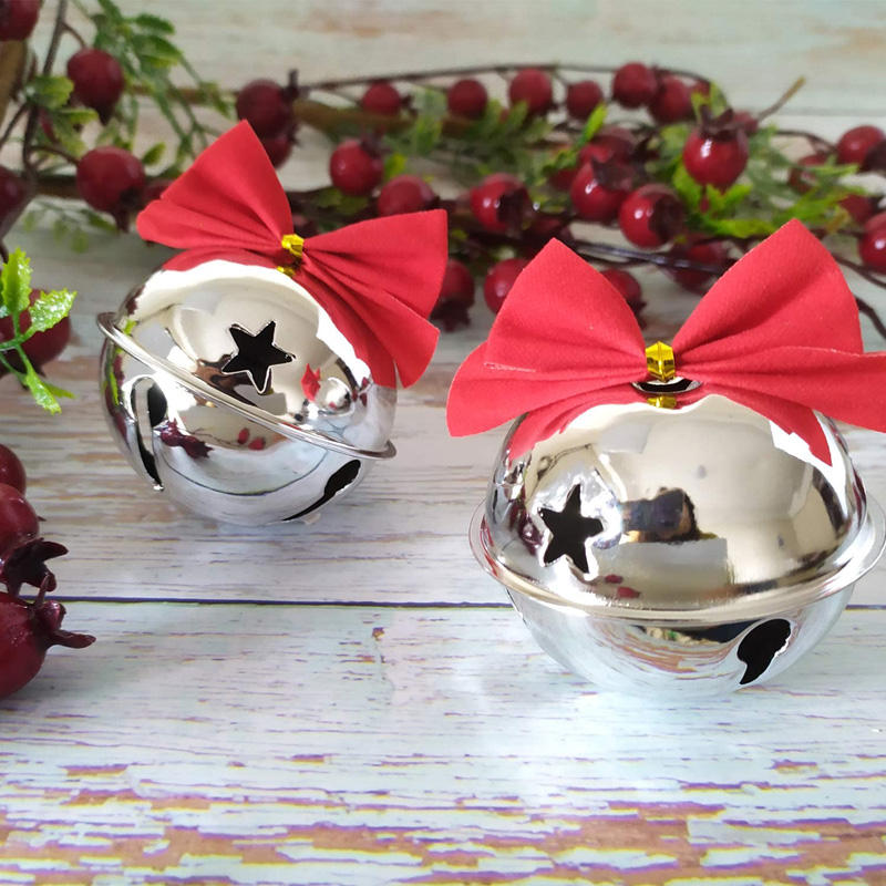 8cm Christmas Ornaments Jingle Bell Metal Large Jingle Bells