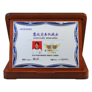 Award certificate foldable awarding supplies factory direct sales wooden plaque