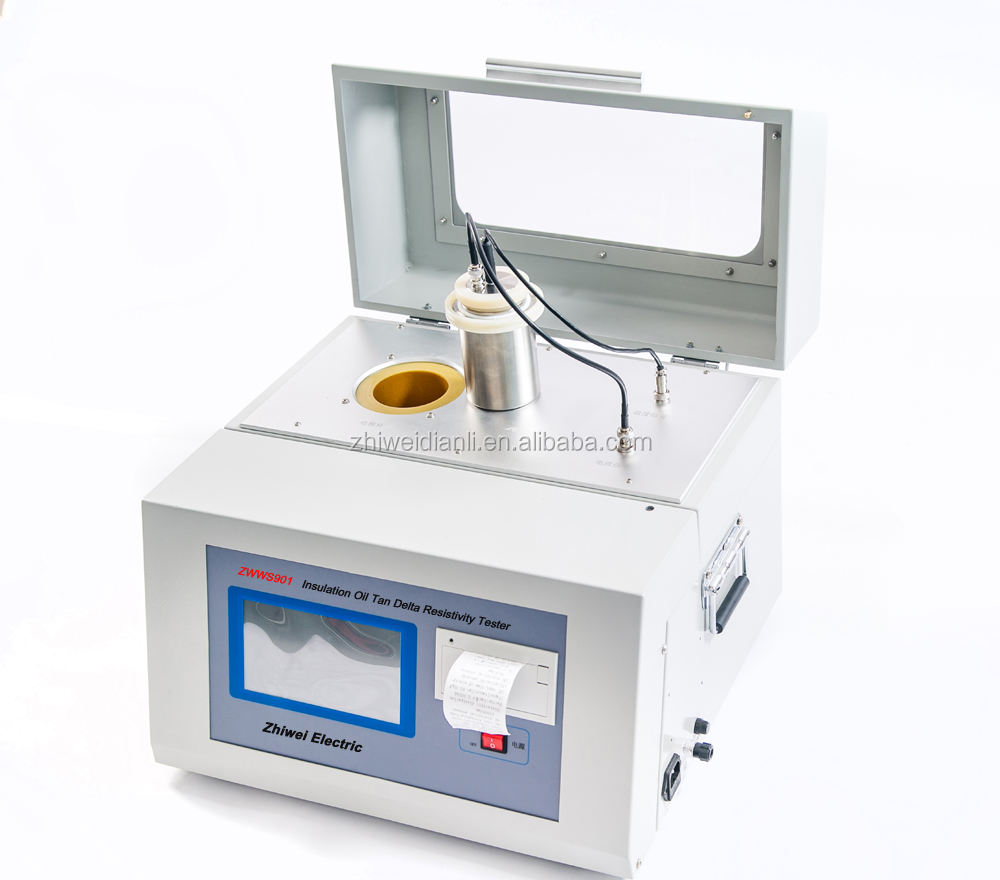 ZWJS901 transformer oil tan delta tester oil dielectric loss tester oil dissipation factor and resistivity tester
