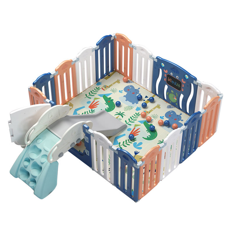 Portable plastic kids indoor game playground modern fence folding color baby playpen