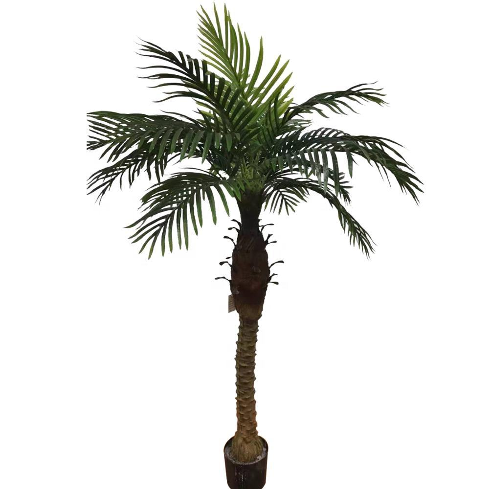 High-quality artificial green decorative tree artificial plastic palm tree for sale