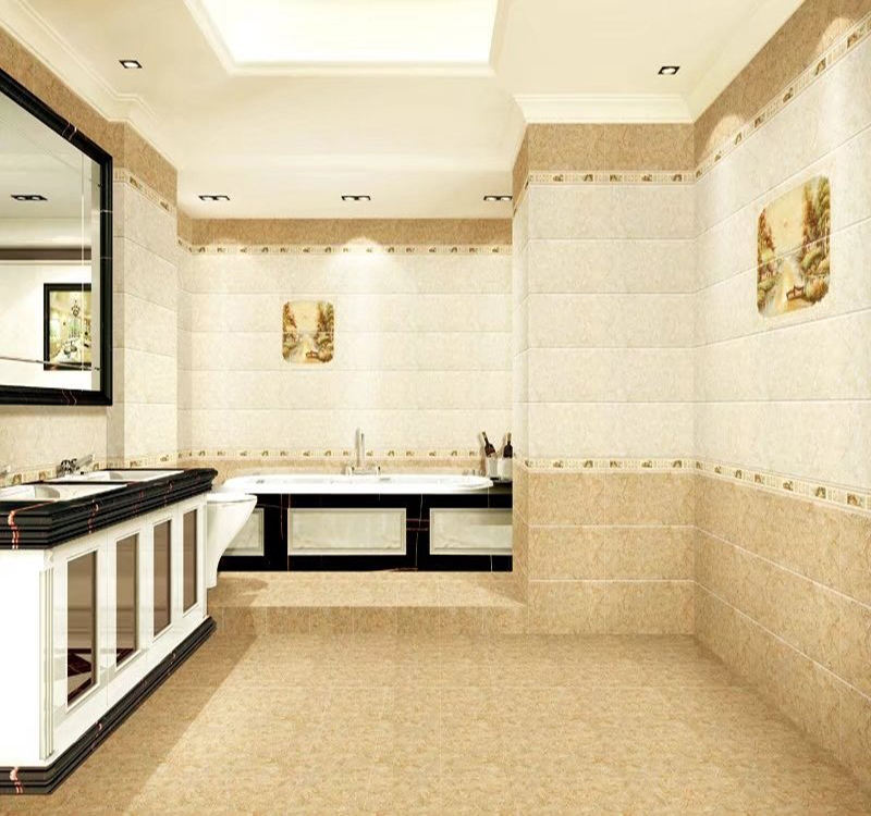 300 600mm kitchen bathroom ceramic wall tile 6mm thickness