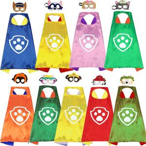 Low MOQ 27*27 Inches Satin Party Superhero Capes For Kids