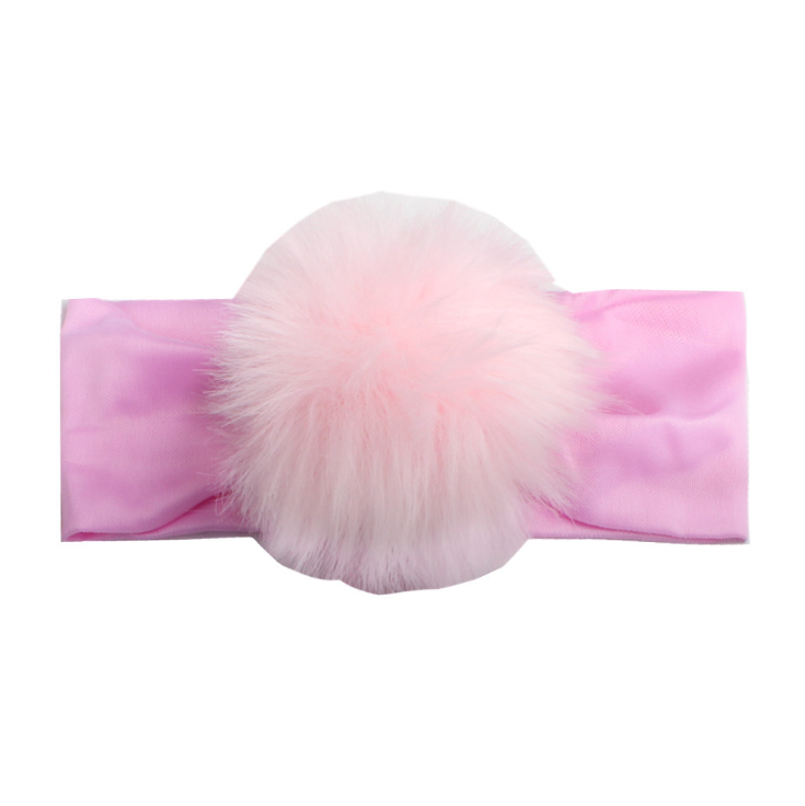 wholesale 2020 New Baby Fashion Plush Ball Hair Accessories European and American Children Pompom Hair Accessories Baby Headband