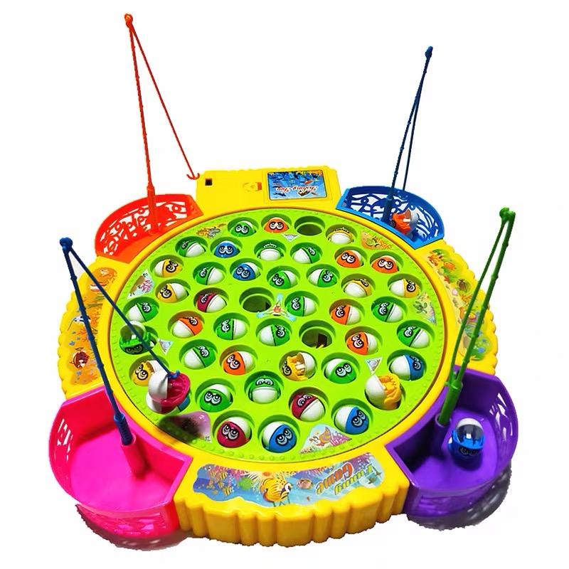 hot toys Battery operated board games interactive games family games Plastic Fishing Toy Set with music Big play set