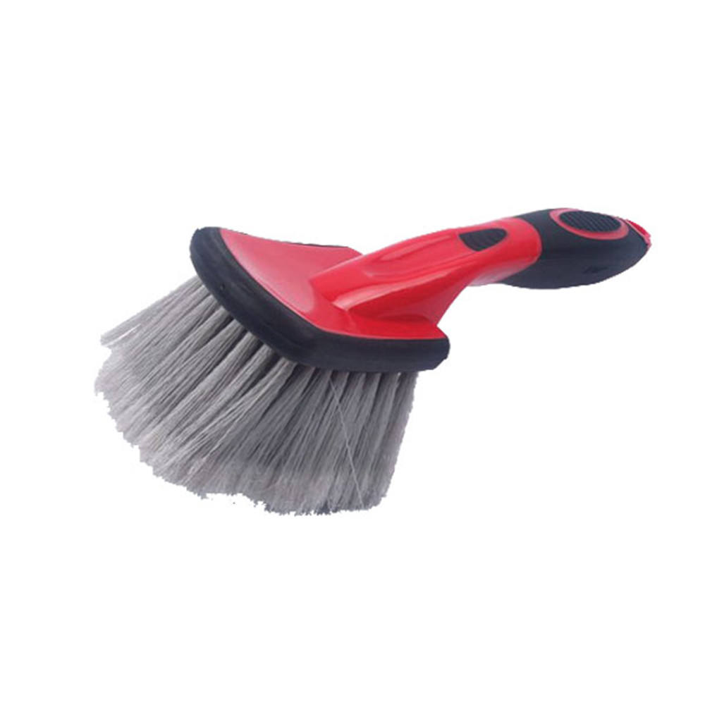 long handle soft bristle car wash brush/high quality soft car cleaning brush /soft car wheel cleaning brush