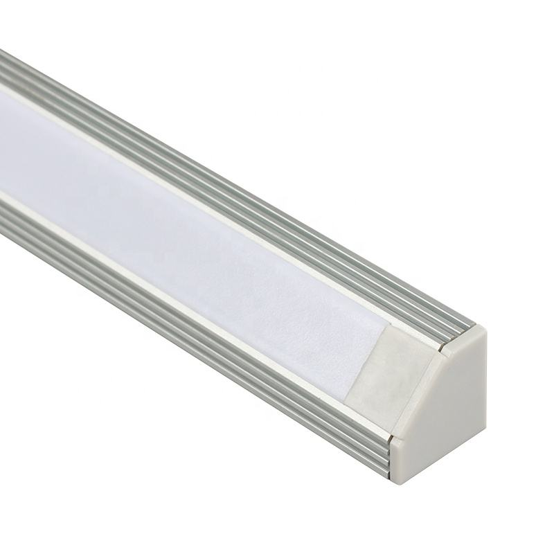 angle aluminum v slot profile led light bar for corner cabinet 90 degreed 3 meter