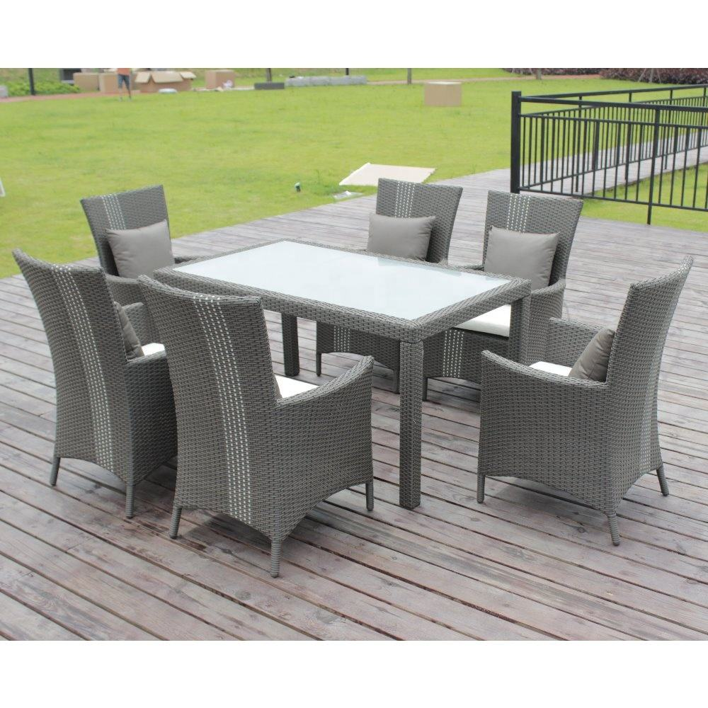 Patio Table et 6 Chaises Outdoor Living Furniture Cheap Patio Sets Waterproof Patio Furniture Cheap Outdoor Furniture