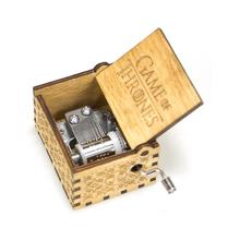 Factory wholesale hand crank wood small music box,plywood music box with dozens of songs