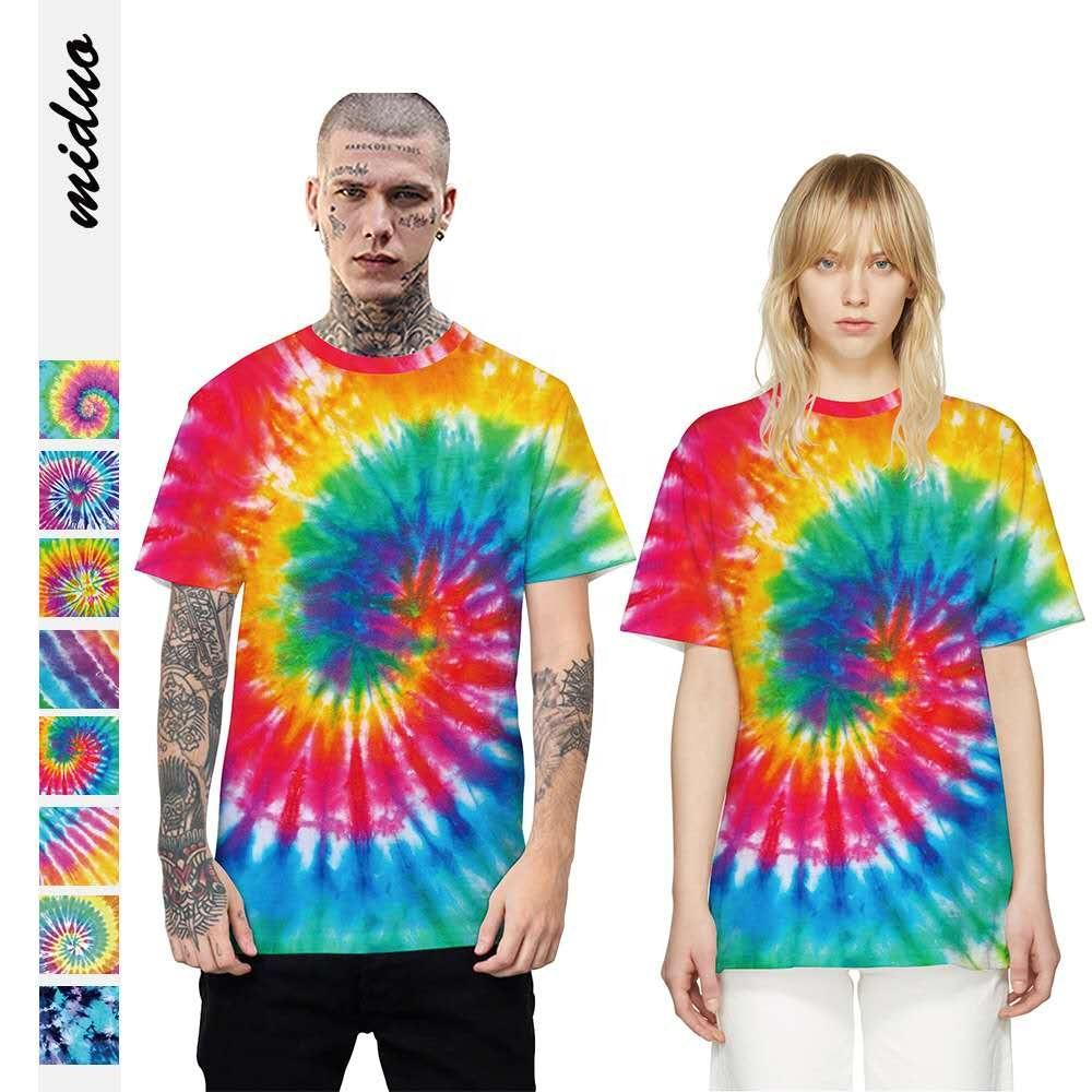 China Wholesale Short Sleeve Summer Tye Dye T Shirts Over sized Tee Tie-Dye T-Shirt