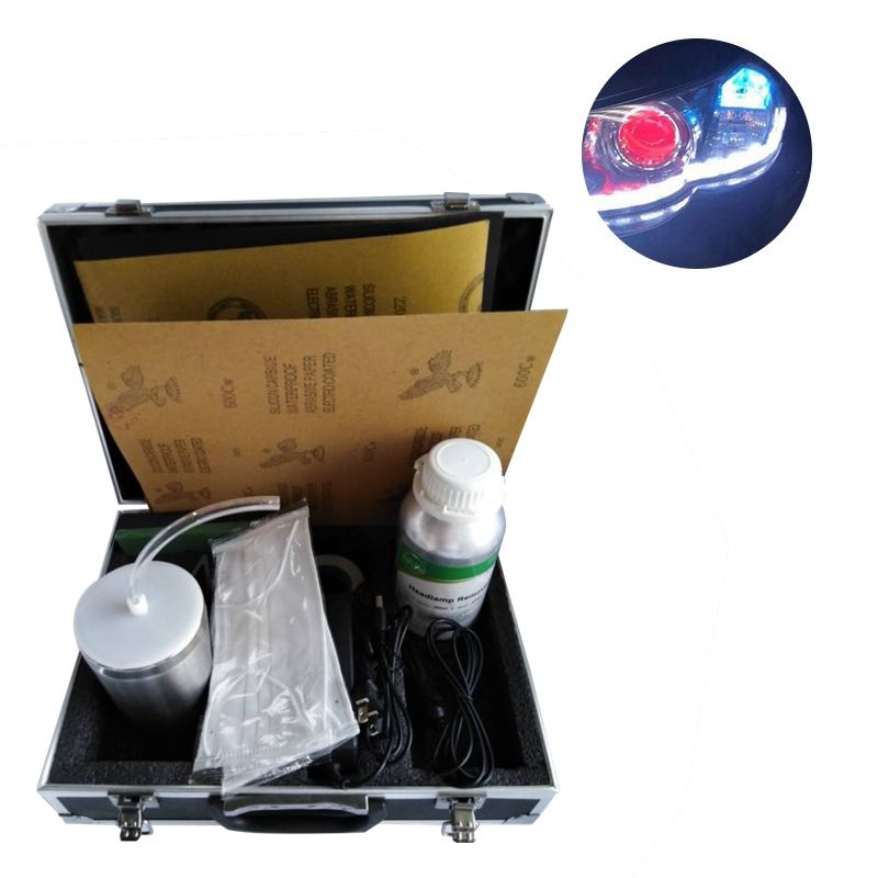 Headlight Restoration Kit Headlamp Atomizing Kit Headlight Restoration Lens Cleaning Tools