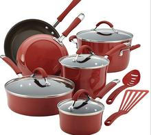 Aluminum non-stick kitchen ware pot and pan set