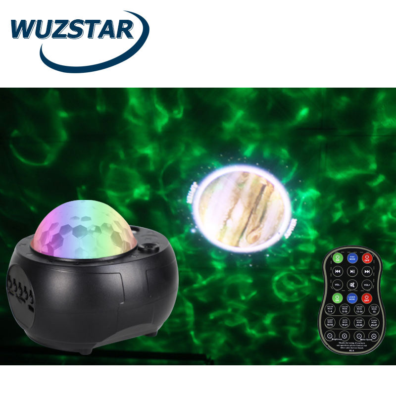 WUZSTAR Mini Blue-tooth Music 9 Planets Starry Projector Night Lamp TF Card For Kids Room Decoration Moon Light Star Projector