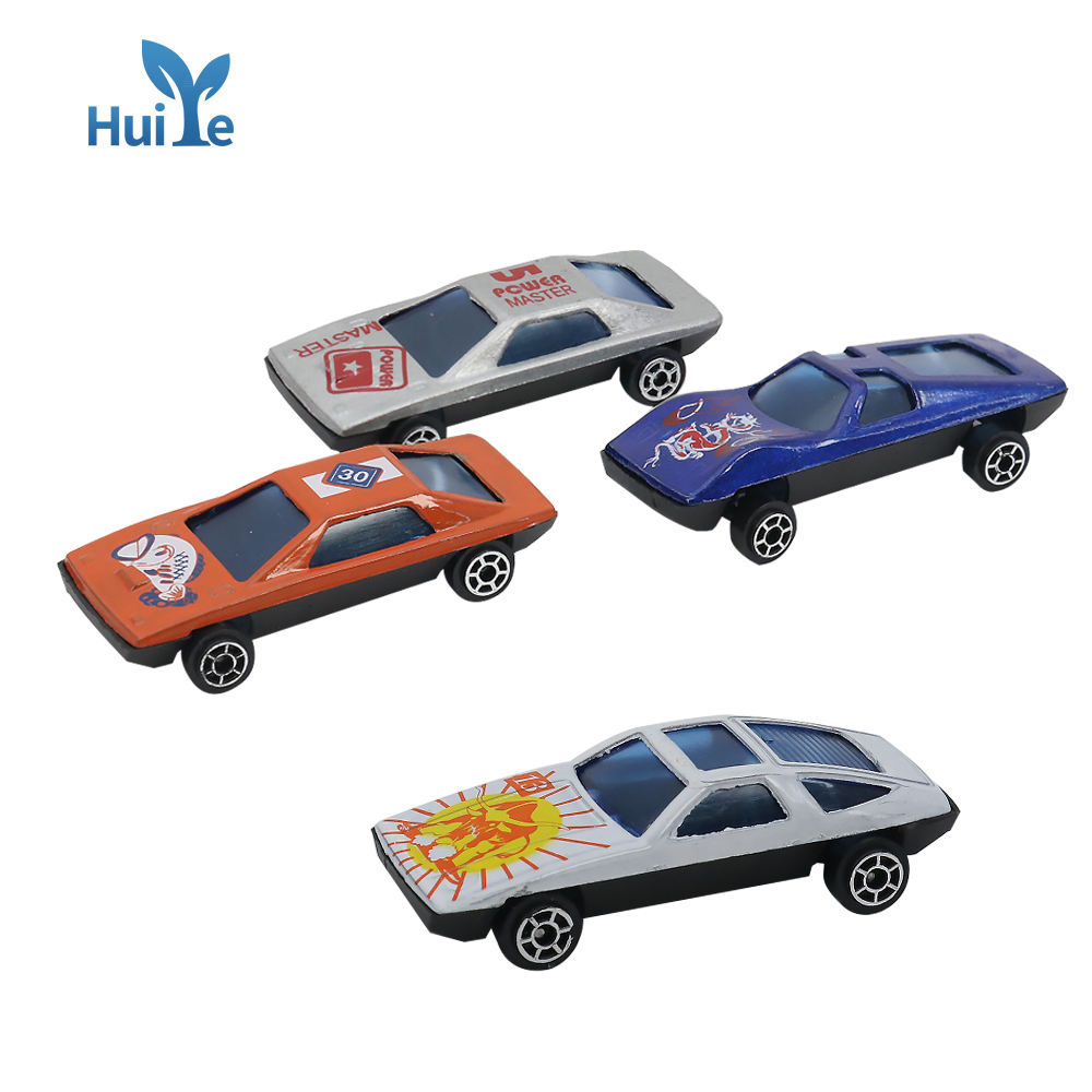 Huiye 1/64 Metal Diecast Toy Vehicles Car 6 Colors Cheap Price Promotional Toys graffiti racing car play set