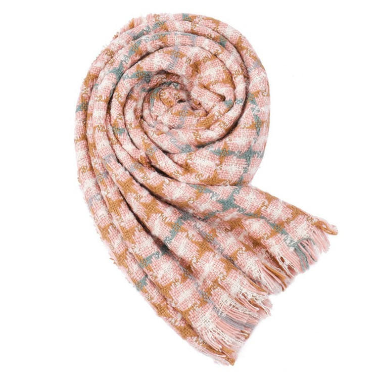 New Style Star Pattern Women Pashmina Tassel Wrap Cashmere Scarf For Ladies