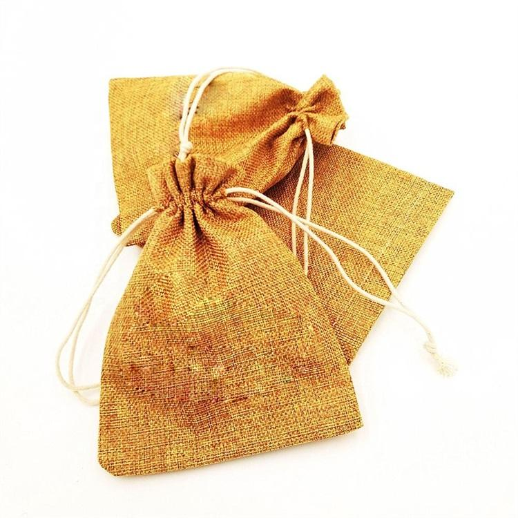 Custom Eco-friendly Drawstring Jute Mesh Drawstring Bag