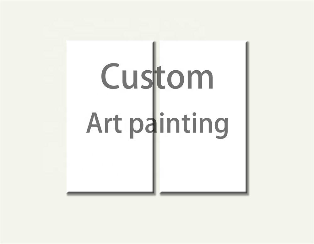 Custom Wall Art Painting New Product OEM Handmade Self Portrait Photo Painting