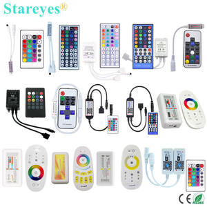 Free shipping 100 Pieces LED strip RGB RGBW Remote controller IR 40 44 Key RF 11 17 Key 2.4G RF WIFI Control SMD 5050 3528 Strip