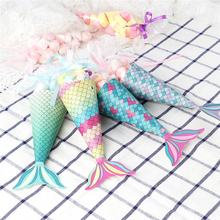 Ourwarm Birthday Decoration Set Of 12  Pcs Mermaid Party Boxes Candy Bags Favors For Mermaid Party