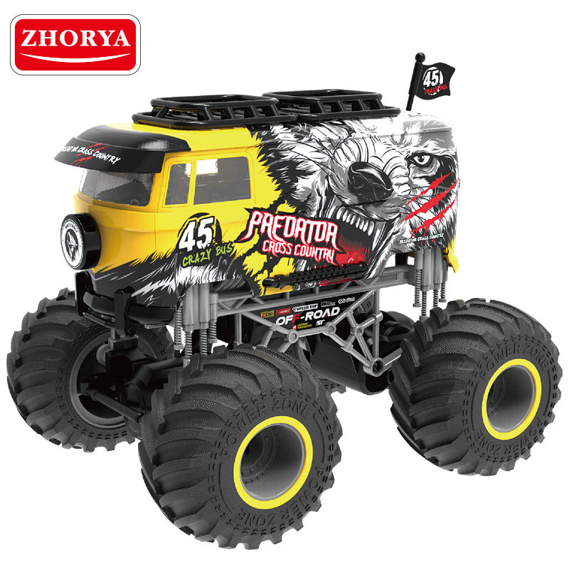 Zhorya 1 16 big wheel Rc Stunt Car Remote Control Off Road Truck Rechargeable Stunt Car Great Gift for Kids