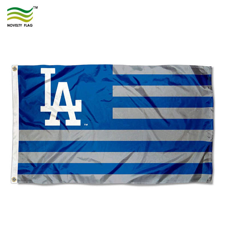 Polyester Custom Druck Los angeles dodgers baseball MLB Flagge Banner
