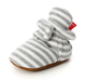 first walking white fleece organic cotton newborn knitted slipper baby booties striped baby booties